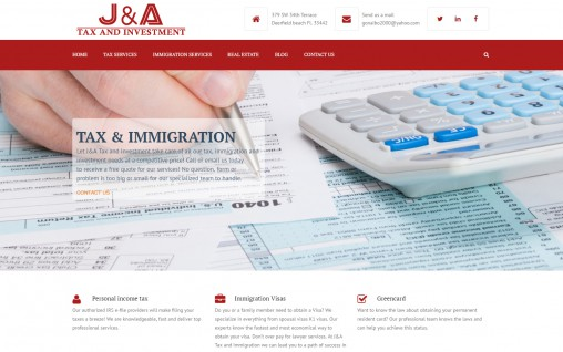 J & A Tax and Investment – Deerfield Beach, Florida